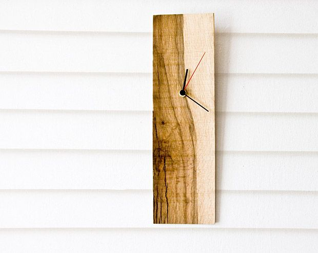 Salvaged wood wall clock good diy project with whatever for Whatever clock diy