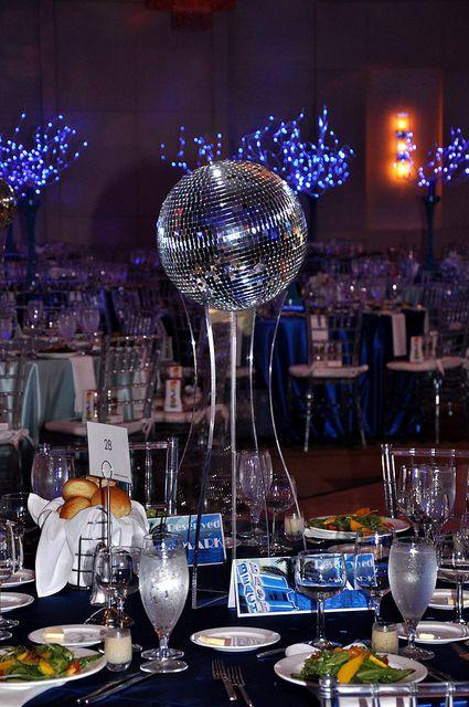 Disco ball centerpiece disco ball discos and centerpieces for Decoration 4