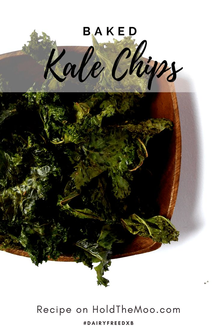 Baked Kale Chips - Hold the Moo