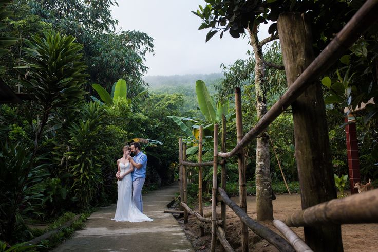 Newlyweds in the jungle #HoiAnEventsWeddings #HoiAn