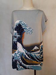 Japanese Tee- The great wave