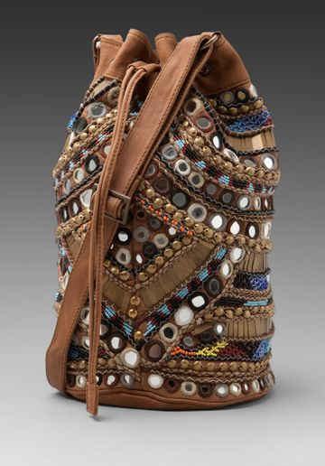 Antik Batik Orelia Bucket Bag in Camel