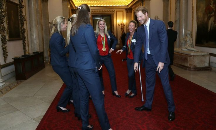 """Prince Harry described me as a crab and was impersonating me!"" said goalkeeper Maddie Hinch. ""He's big on the bants and the banter. He'd definitely fit into our team and in the locker room!"" she added..<br><br>Photo: © PA"