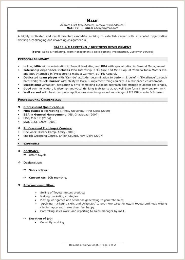 Fresher Resume format Mechanical Engineer Pdf ...