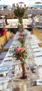 Wonderful vintage style flowers -  Colorful flowers with natural elements #weddingingreece #weddingflowers #weddingideas #mythosweddings #kefaonia
