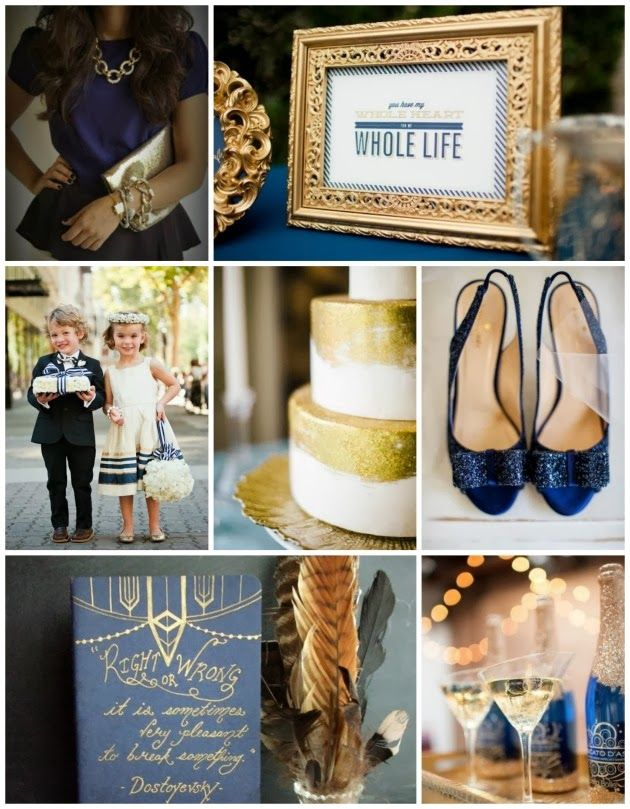Navy and Gold Wedding Inspiration via Aisle Perfect
