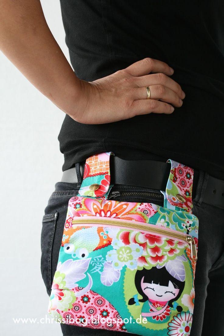 Du nähst eine Tasche und hast Gürteltasche - Lenkertasche - Handtäschchen und Einkaufsbeutel zugleich!