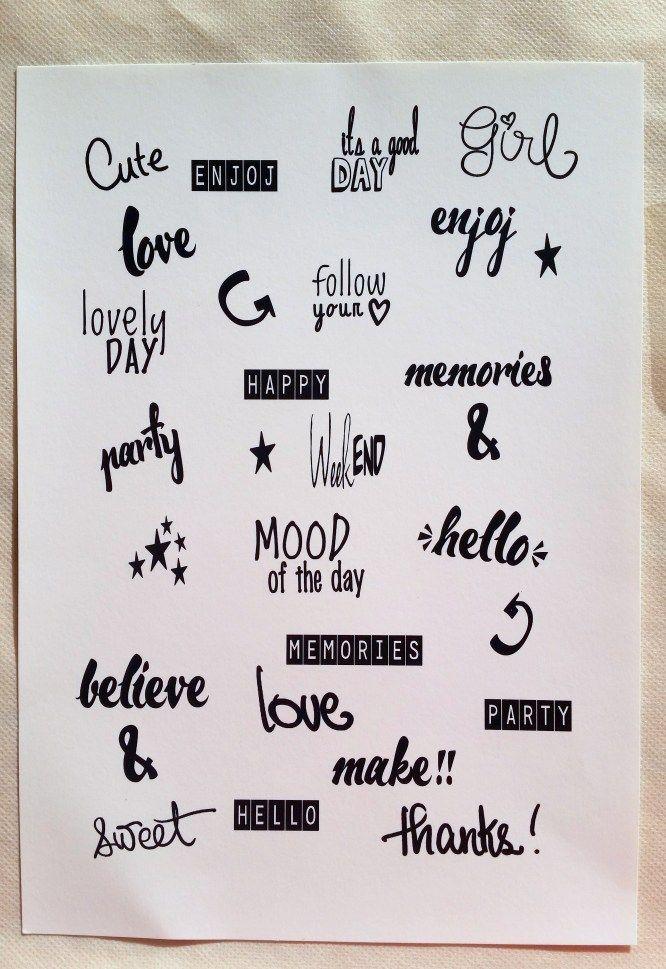 FREE printable planner stickers - handwritten font