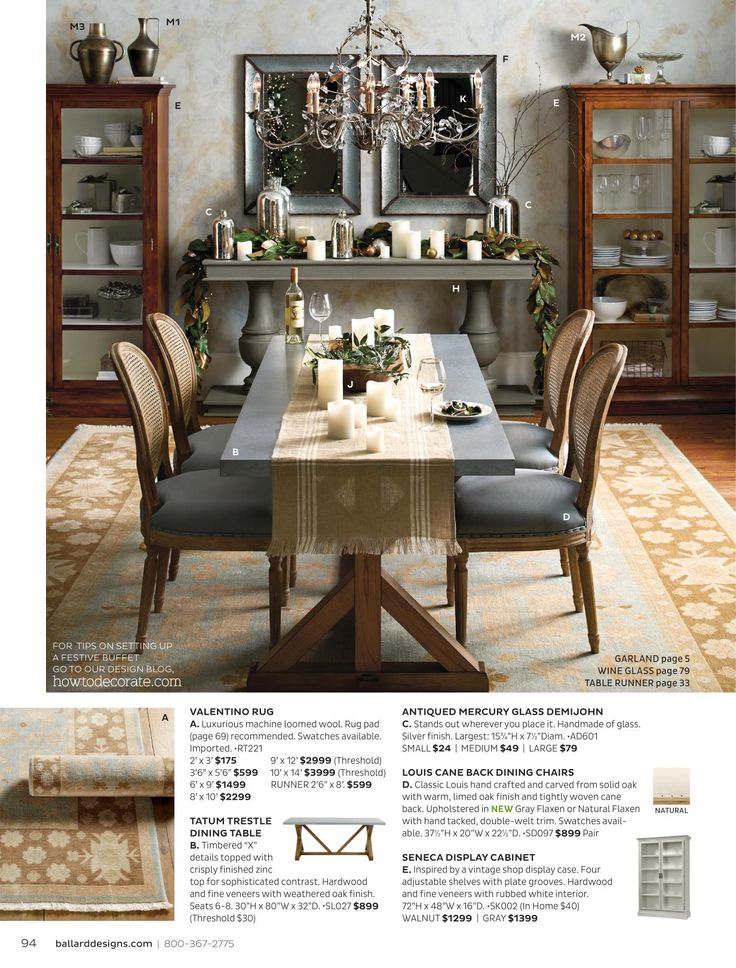 Ballard designs online catalogs house dining rooms for Ballard designs dining room