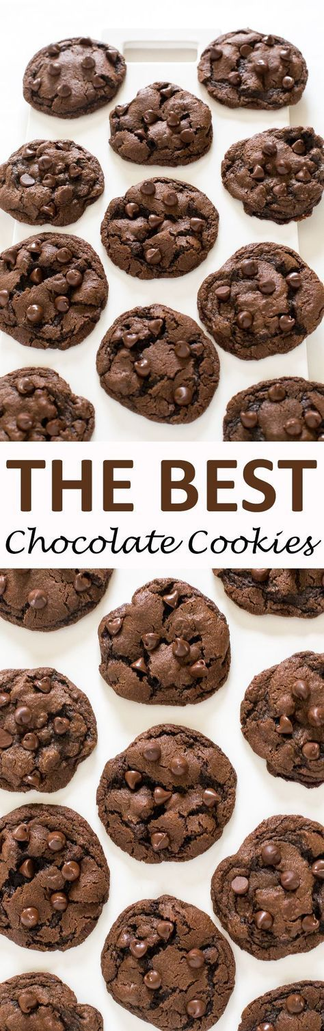 Soft & Chewy Double Chocolate Chip Cookies. Made with semi sweet chocolate chips and cocoa powder. These cookies take only 20 minutes to make start to finish!