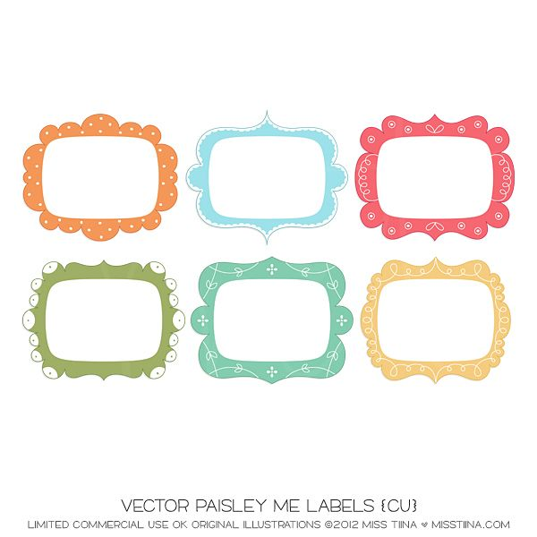 Vector Paisley Me Labels {CU}