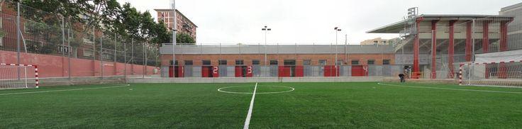 Jupiter Stadium changing rooms, Barcelona. Q D'ARQUITECTURA. Miquel Turne / Jordi Grane qdarquitectura@ya.com www.qdarquitectura.com