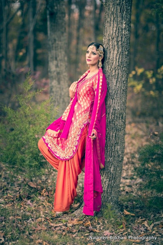#bling alert ~ pink and orange retro salwar kameez
