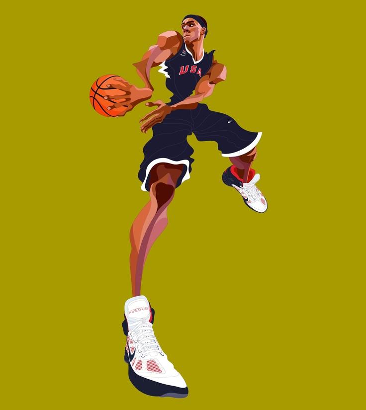 Nike's cartoon rendition of Rajon Rondo.