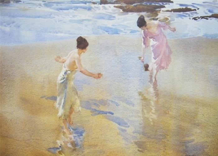 The Beach Game - William Russell Flint