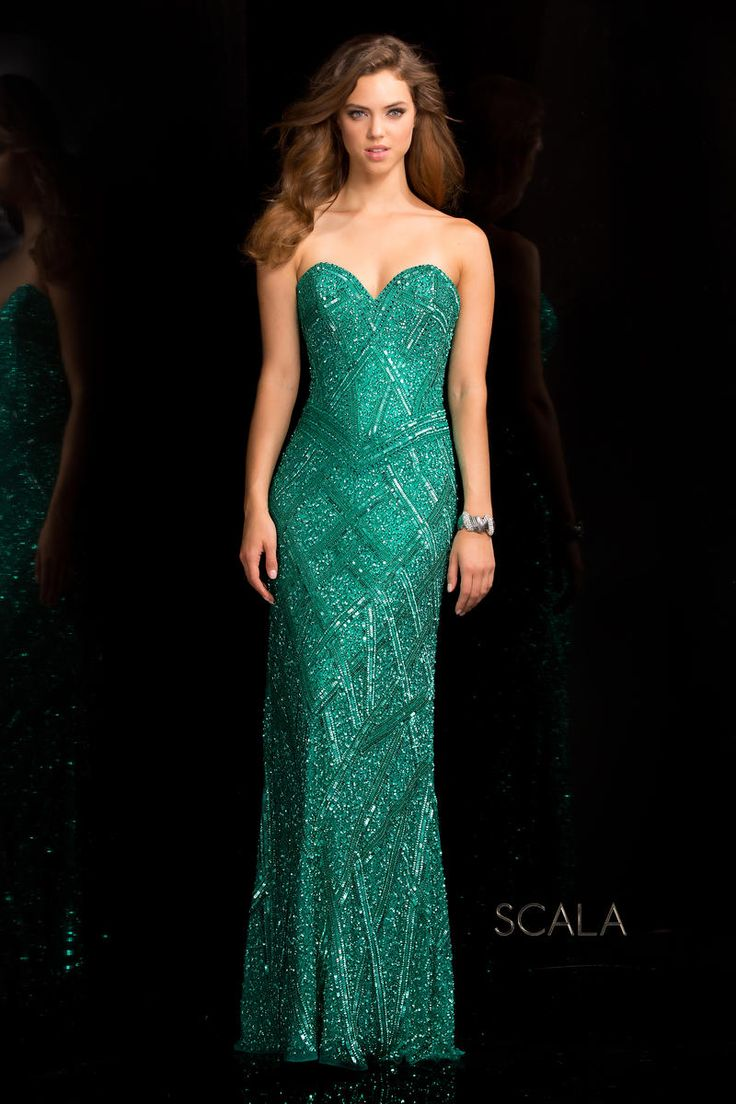 204 best Green Gowns images on Pinterest | Green gown, Party wear ...