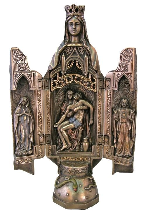 286 best easter gifts images on pinterest easter gift spiritual pieta madonna and jesus triptych statue opens up sorrowful mother easter gift negle Choice Image