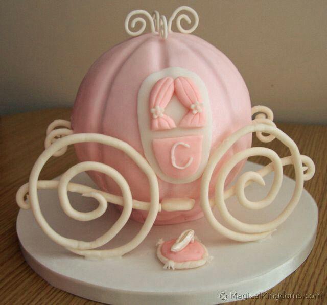 Cinderella Coach birthday cake