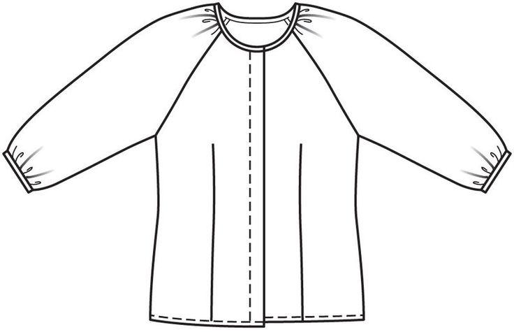 Блузка с потайной застежкой
