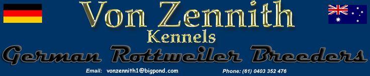 Von Zennith Rottweiler Breeders Australia