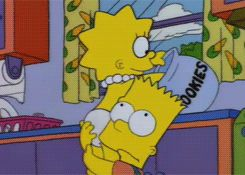 Bart and Lisa - gotta love 'em.