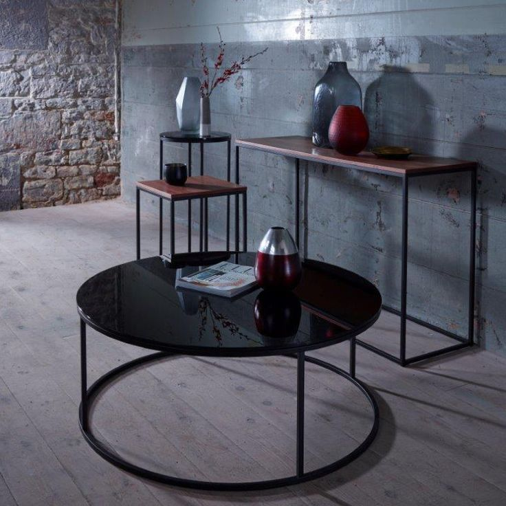 Kensal Black Glass Coffee Table