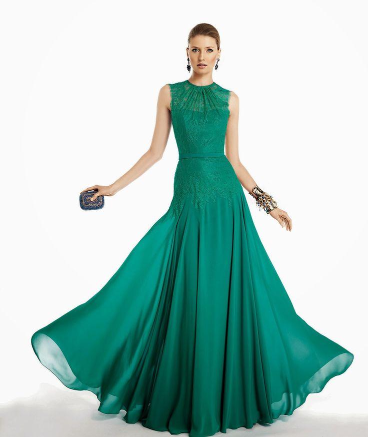 Abiti da cerimonia corti verde smeraldo