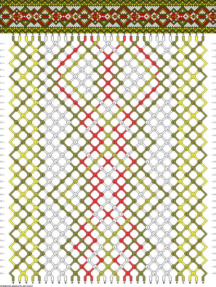 30 strings, 36 rows, 5 colors, bracelet