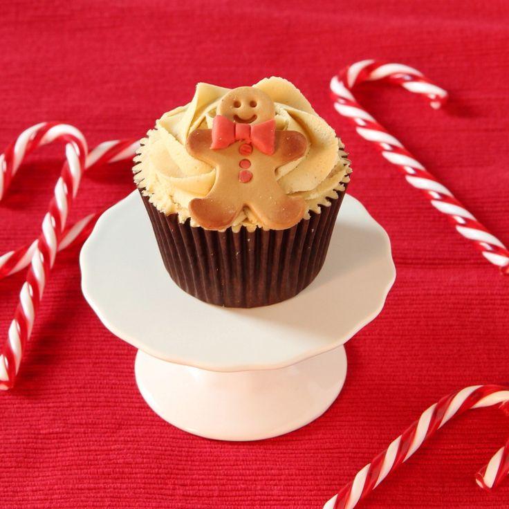 Gingerbread men cupcakes recipe   BakingMad
