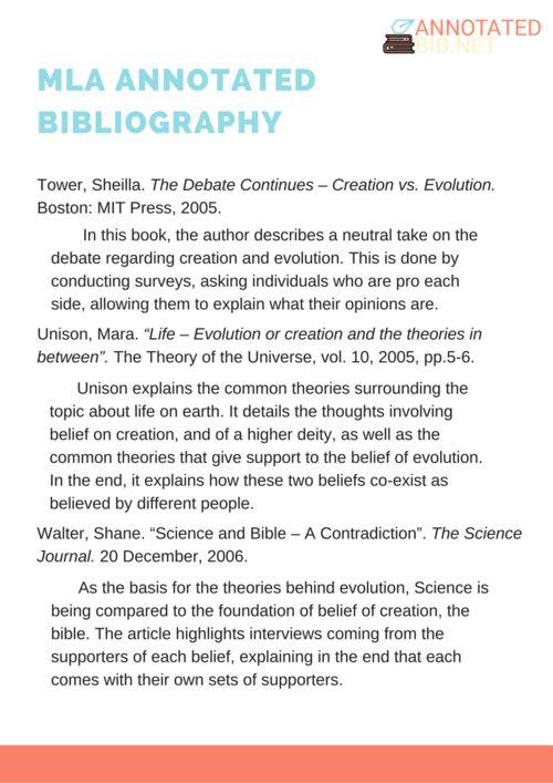 example of a bibliography mla