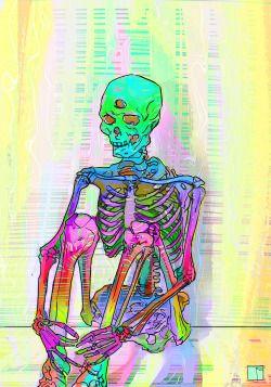 trippy lsd acid psychedelic trip skull skeleton bones dmt plur Psychedelic art psychedelia third eye psychedelics trippy art Pineal Gland skull art dmt art acid art lonelyness trip art edmlife LSD art Drug Art Skeleton art bones art phazed acidmath drugart drugs art
