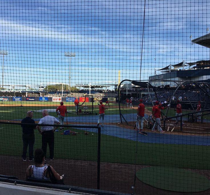 Watching #Phillies batting practice before tonights game vs. #Yankees. Great seats! #MLB #Baseball