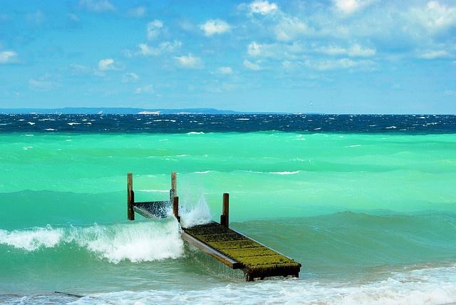 You're not in the Caribbean...you're in Traverse City, Michigan! (Lake Michigan)