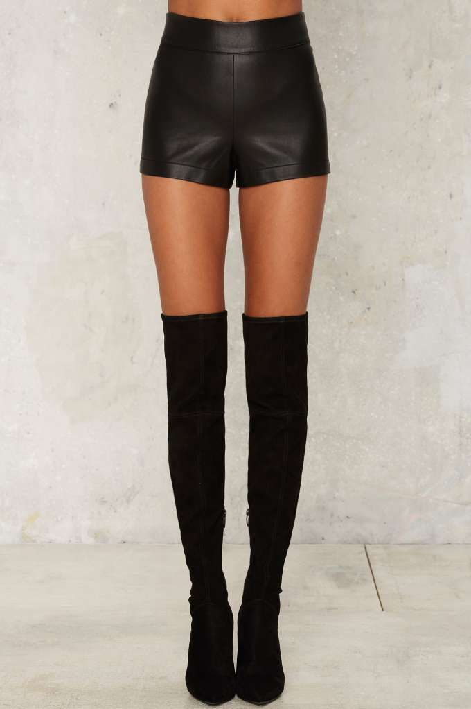 Nasty Gal Love the Nightlife Vegan Leather Shorts - Clothes | Going Out | High Waisted