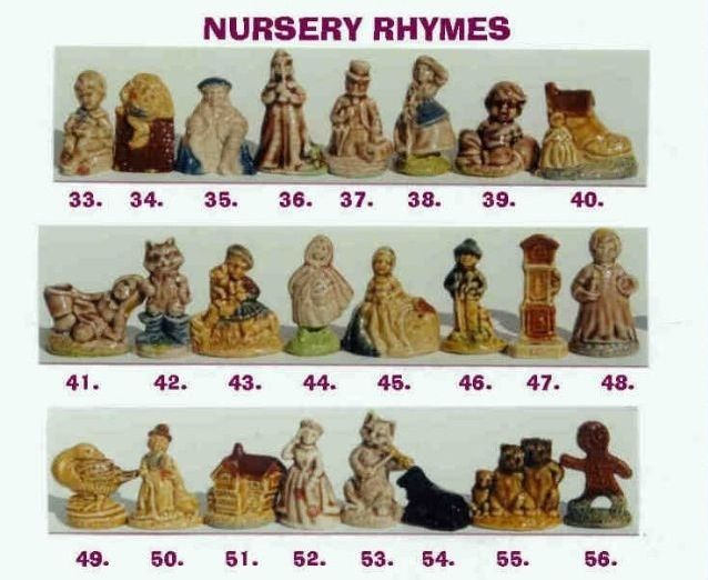 Red Rose Tea Nursery Rhymes Figurines  (Only Canada had these ones) I started collecting them for a Brownie badge when I was 6yrs old with the tea drinking help of my Mom & Grandmother  (I sure pushed them to drink more tea)