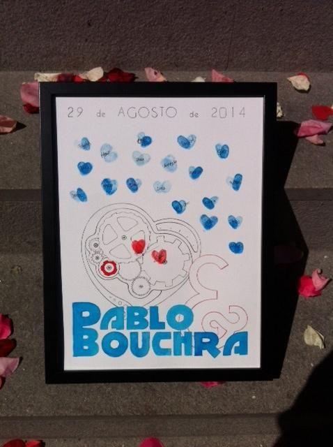 Love Machine -40 invitados Cuadro de huellas  www.emporioalberi.com