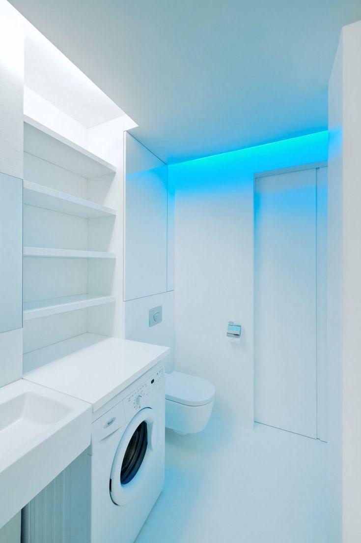 Bathroom designs for apartments -  White Apartment