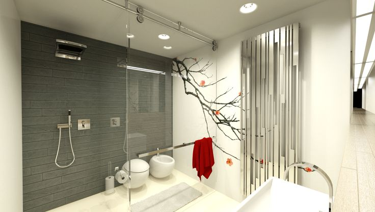 bathroom in family house