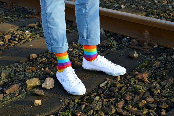 Arc-en-chaussettes   chaussettes hommes   chaussettes Casual   cool chaussettes   chaussettes femmes   chaussettes drôles   à motifs de chaussettes   chaussettes colorées   chaussettes en coton   heureux