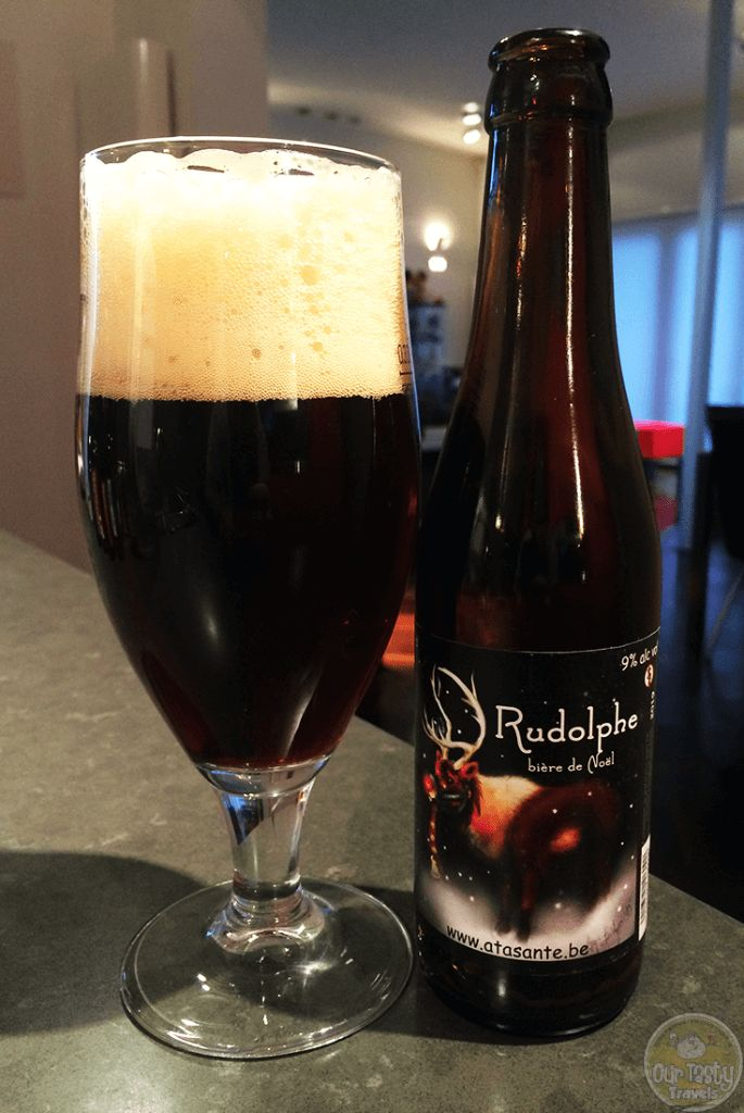 24-Dec-2015: Rudolphe by Brasserie de Salenrieux. Rudolphe is guiding the sleigh tonight, so had to set him free. You can definitely taste the 9%, should keep that nose glowing. Fruity, raisins. Poured with a big, cream colored head. Quite some carbonation, but not blocking the flavor. Mellows out quite a bit sitting in the glass. #ottbeerdiary #ottadvent15