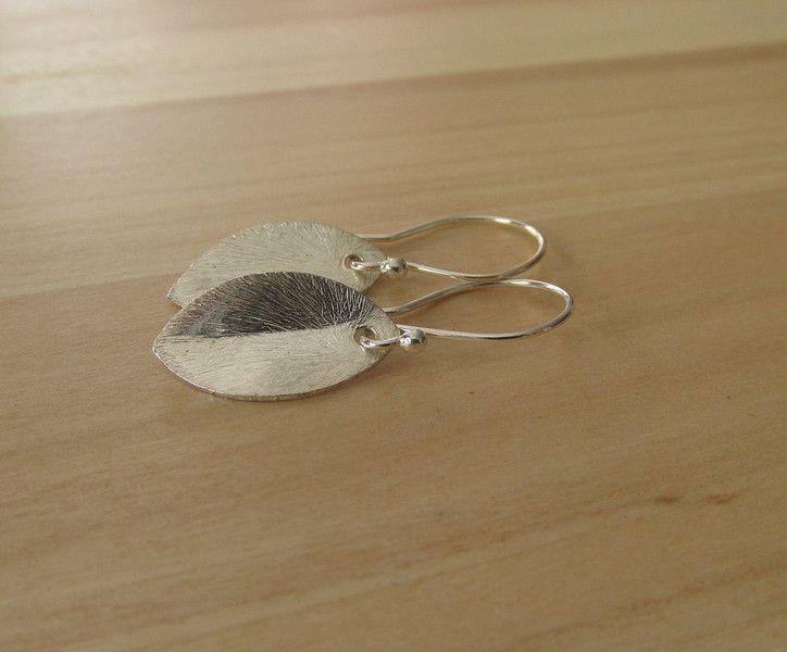 Silber Ohrringe - Ohrringe Blatt 925er Silber Haken - ein Designerstück von Mirakel1807 bei DaWanda