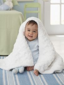 Cushy Cable Knitted Baby Blanket Pattern Available In