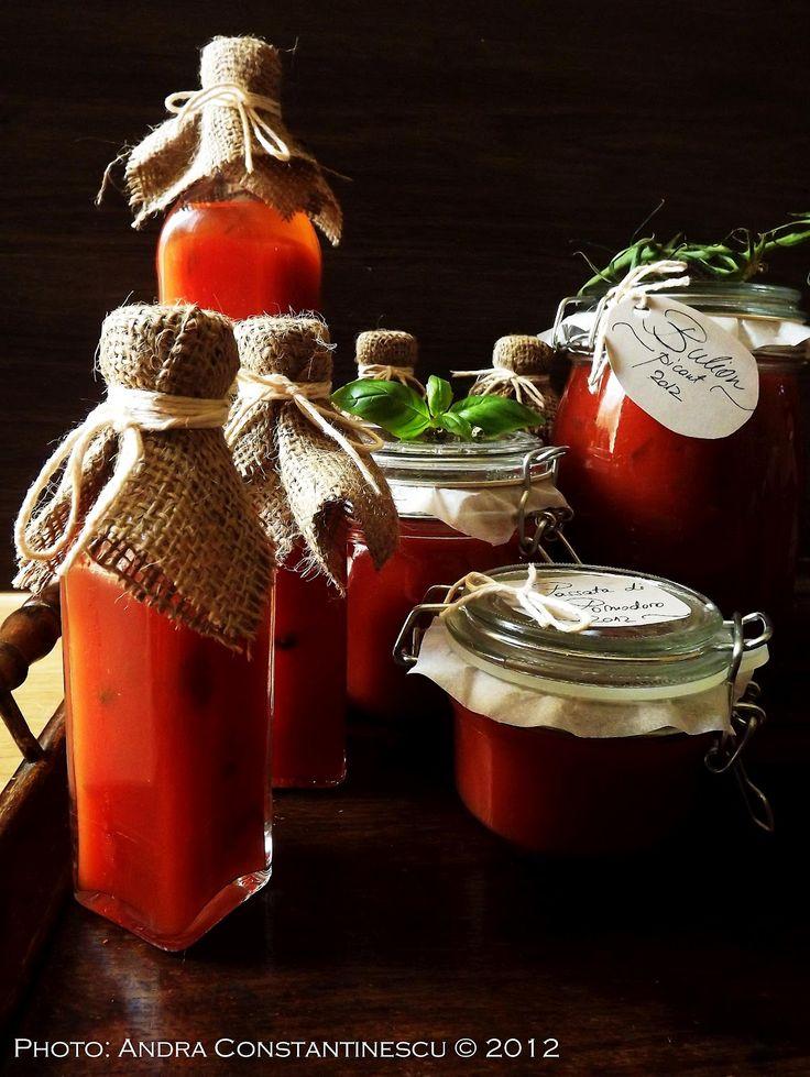 Retete de toamna: passata di pomodoro, bulion picant si suc de rosii [conserve pentru iarna] - Menta & Rozmarin