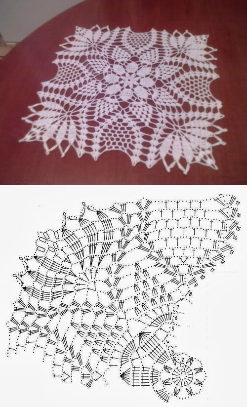 Square doily crochet... ♥ Deniz ♥