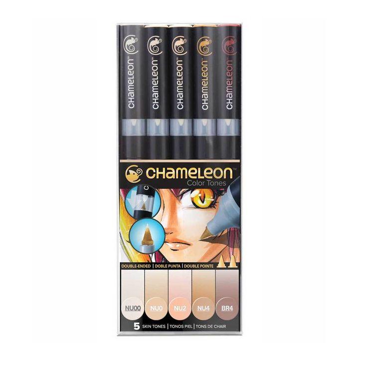 Kit Caneta Chameleon - Skin Tones na Papelero Crafts & Arts