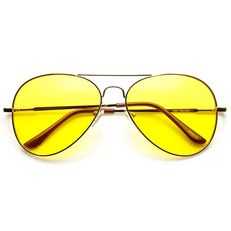 Classic metal aviator driving lens sunglasses with a tear-drop frame design. The specialized lens increases the difference in sharpness by reducing reflection and relieving your eyes from glare and ha