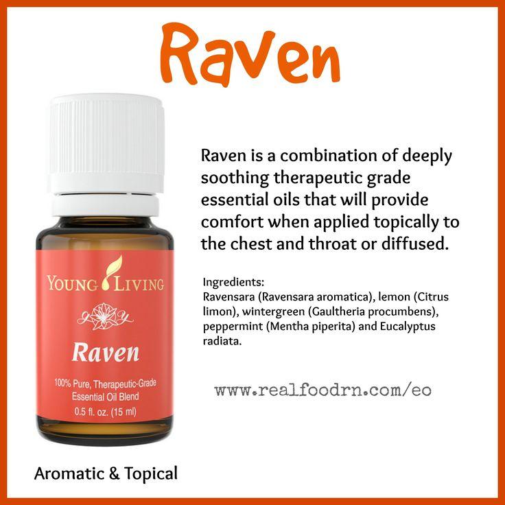 Raven Essential Oil. Provide comfort. #raven #essentialoils