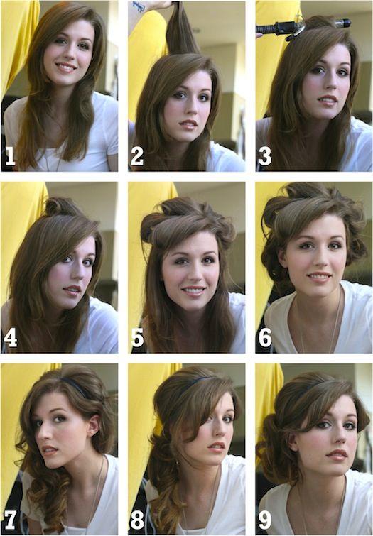 Projectville: Craft, DIY, Art, and Beauty: Charlize Headband Hair Tutorial