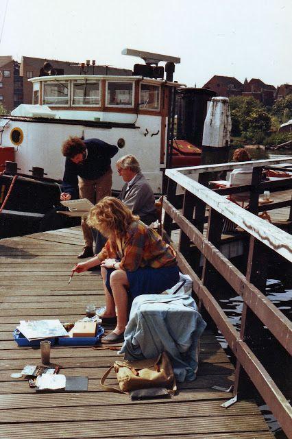 Schilderen bij Peter van Loon, Atelier De Vereniging, hier geeft hij schilderlessen. - 102312275041909694945 - Picasa Webalbums