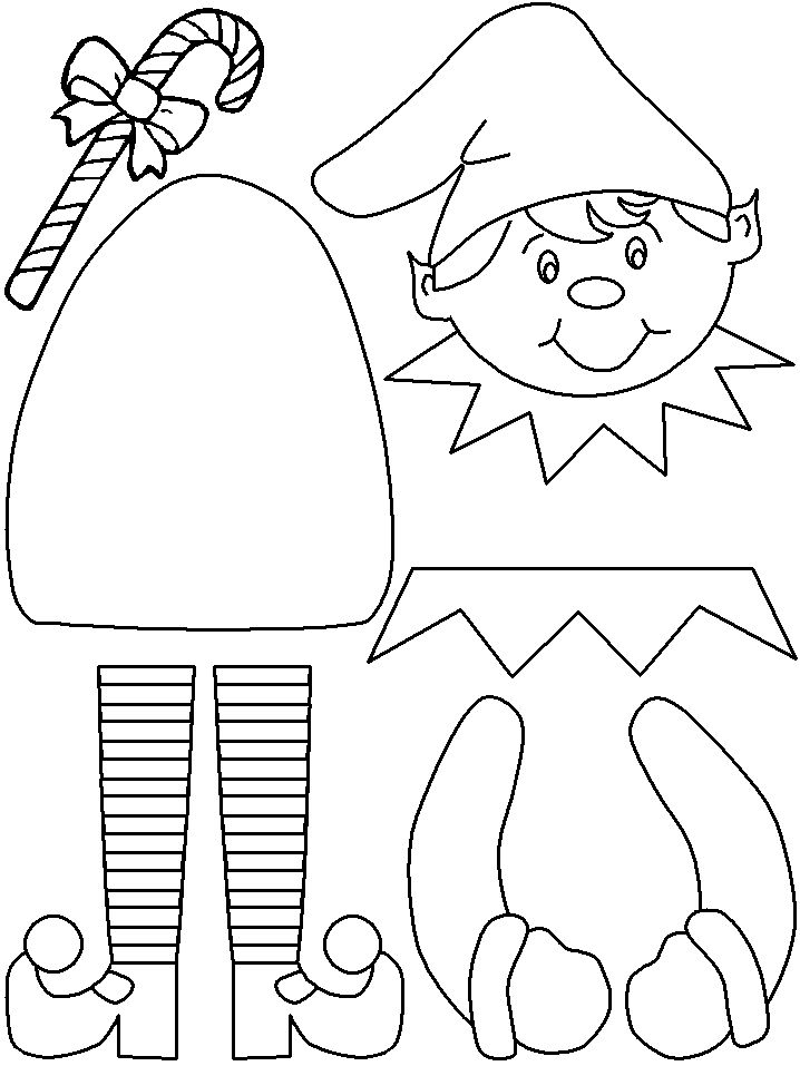 Elf Puppet/Coloring Page